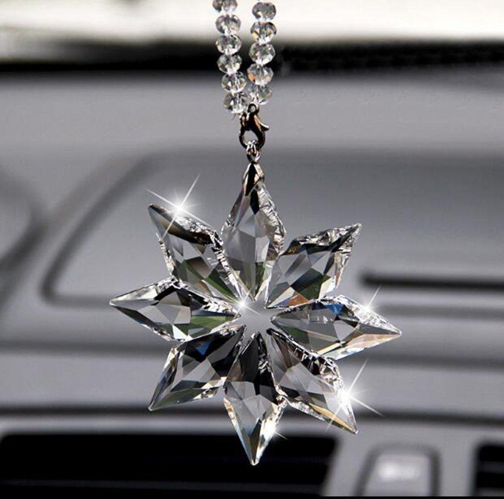 Car Rear View Mirror Ornament Car Pendant Swarovski 2016 Crystal Angel Crystal Ball Car Charm