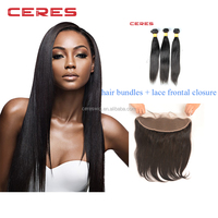 Black In 13X4 silky straight peruvian Hair Closure Cheap Human Hair Frontal Lace Closure With Bundles