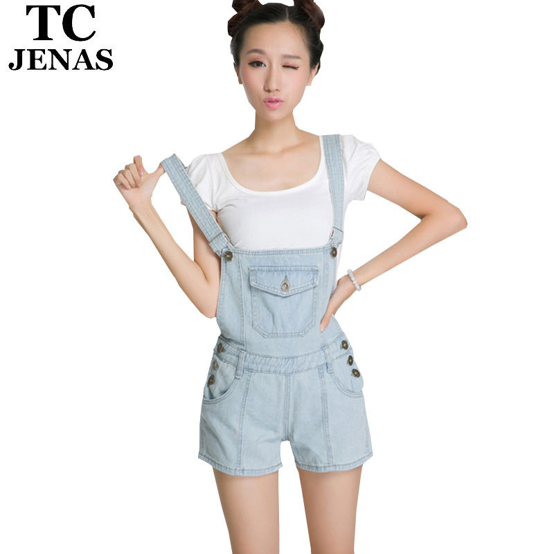 30fa7d8036d1 Get Quotations ·  TC  Shorts women jeans Summer vintage denim jumpsuit bib pants  suspenders shorts girls the
