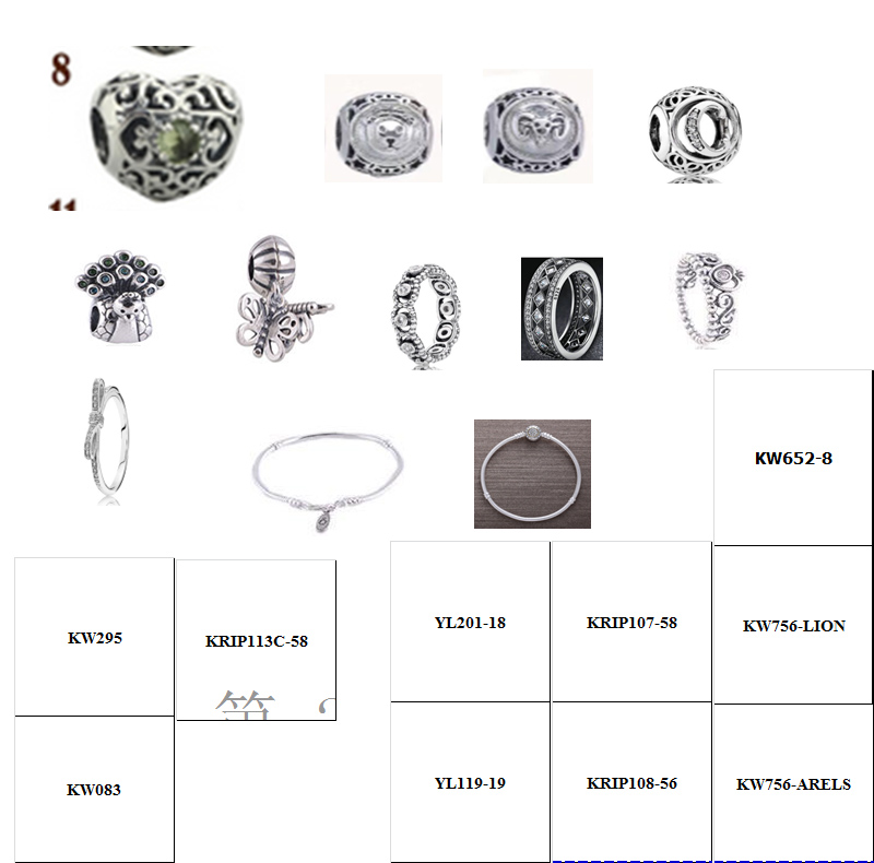 sample trial order of 925 sterling silver <strong>charms</strong> for women bracelet making