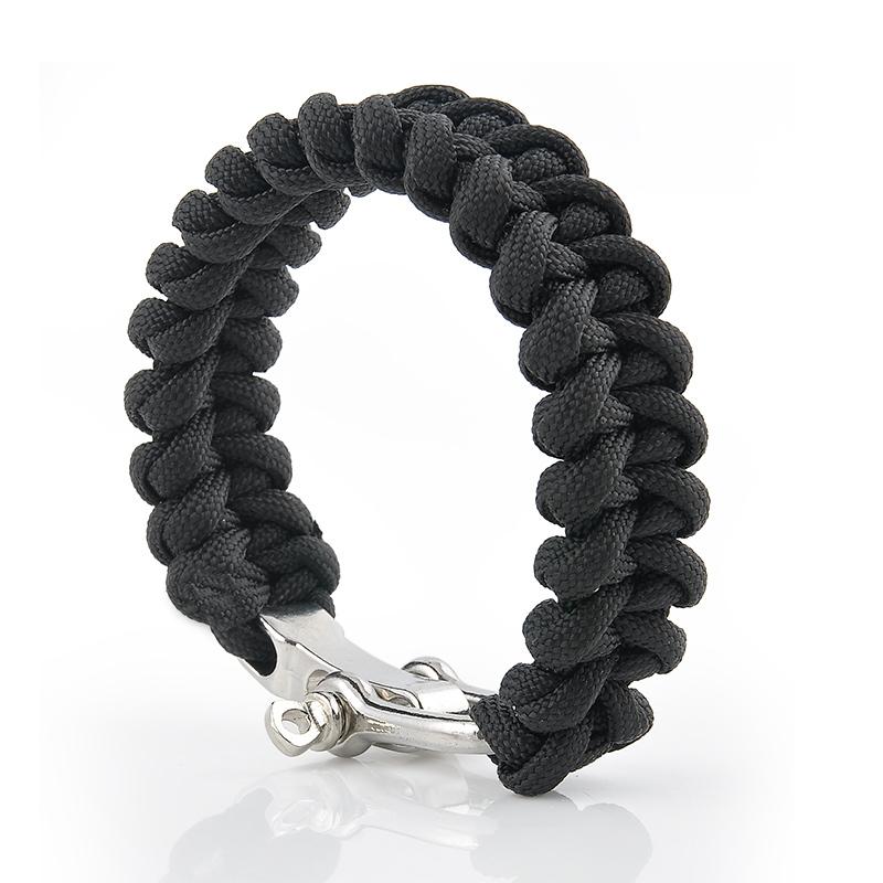 Purple Bag Parts & Accessories Wholesale 5pcs*7 Strand Survival Military Weave Bracelet Cord Buckle