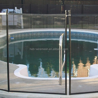Removable Aluminum pole PVC Mesh Swimming Pool Safety Fence Design