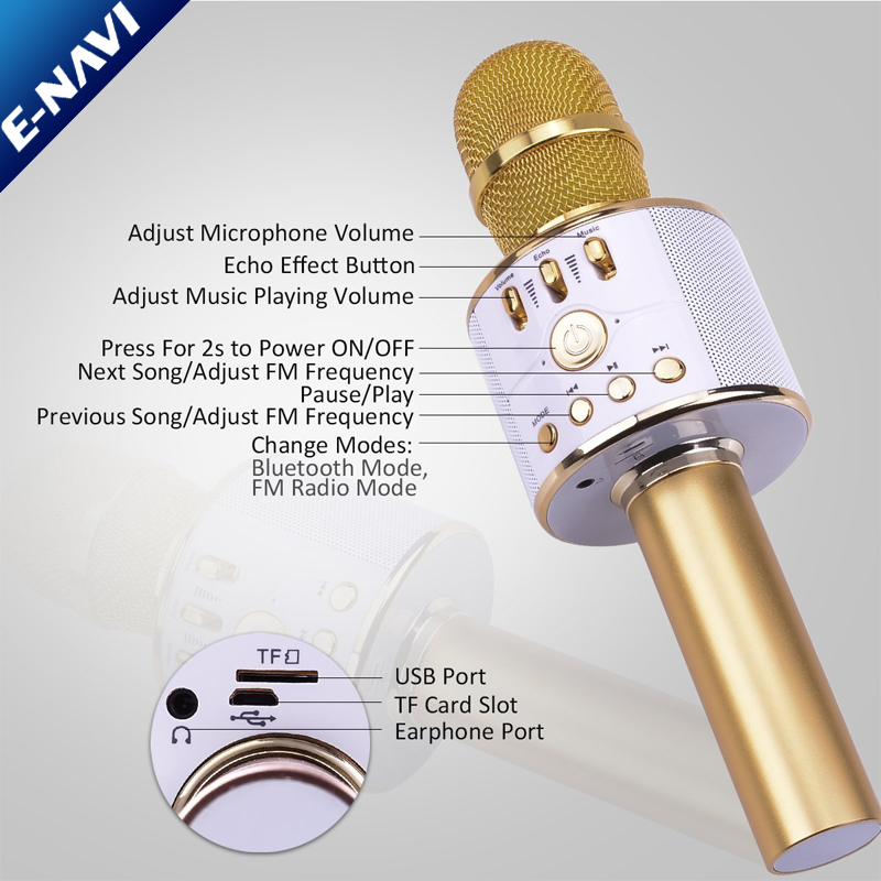 Home KTV Portable Mini Karaoke Microphone System Wireless Speaker For Your Kids to Play with