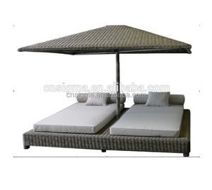 2018 Sigma hot selling pe rattan bali outdoor day beds