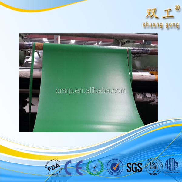 green colored Natural rubber sheet