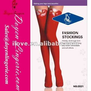 Factory Price!Fashion Compression Christmas Stocking Flowers Designs