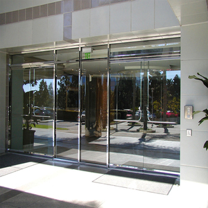 Gaoming high quality stainless steel frameless large glass sliding folding door