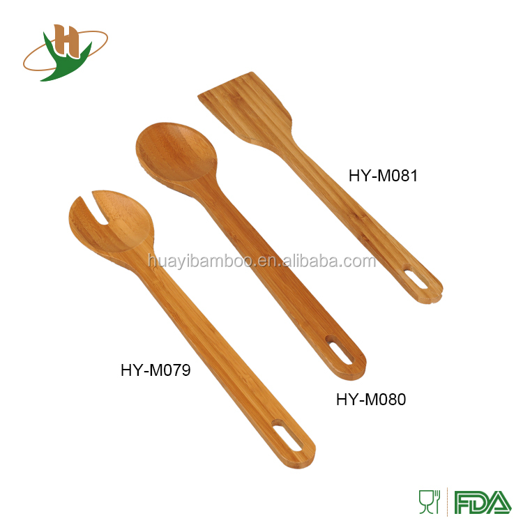 Non-toxic kitchenware bamboo bulk hanging kitchen utensils