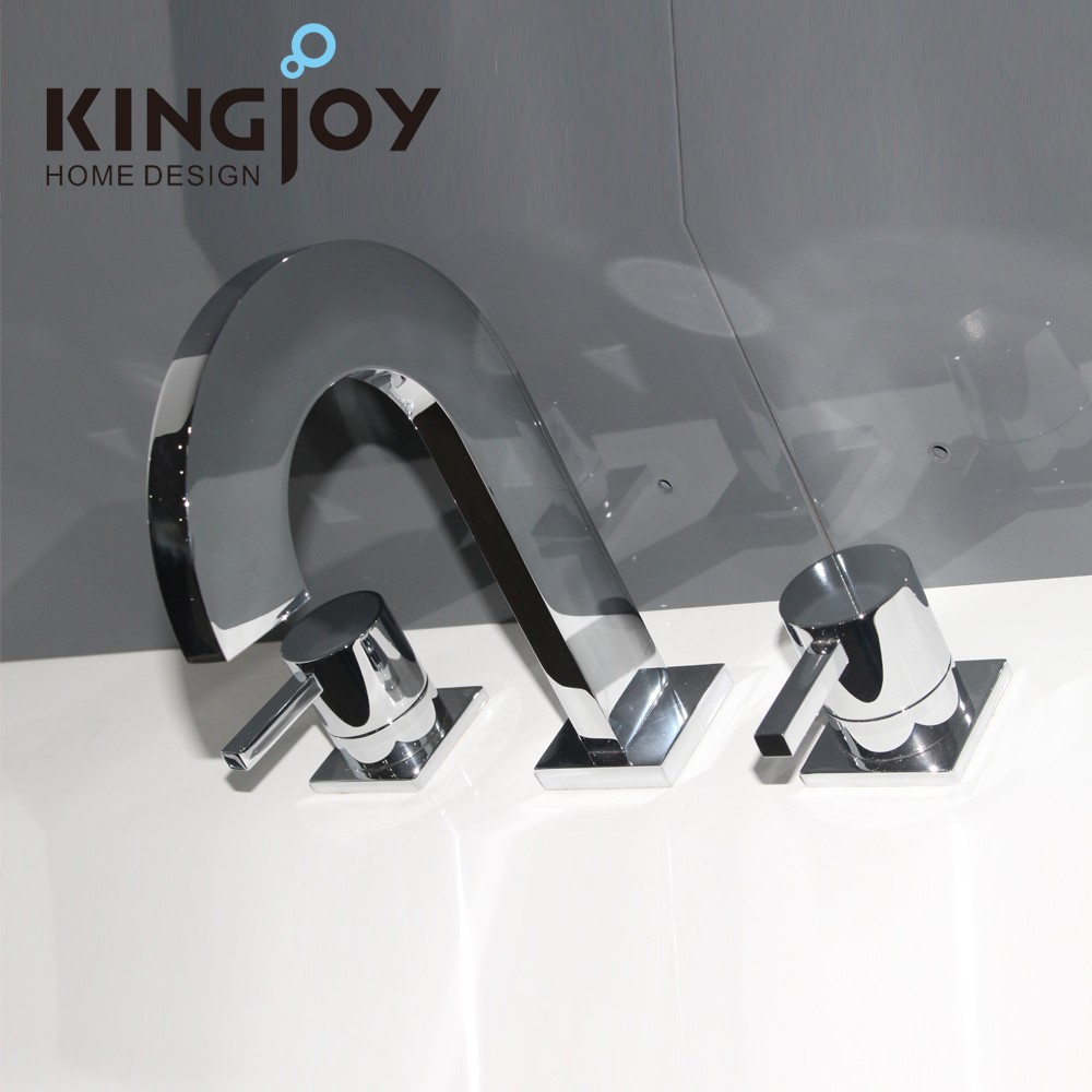 Excellent Artistic Bathroom Brass Wash Basin Hot Cold Water Tap Faucet