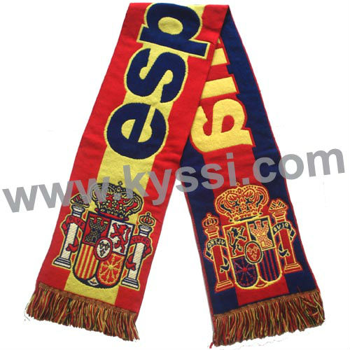 ESPANA Spain Soccer National Flag Woven Stadium Scarf