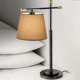 American Style Round Black Lamp Shade Hotel Bedside Table Lamp