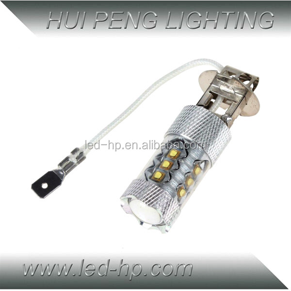 H1 80W Super White 6000K LED Projector Tail Fog Driving Light Bulb