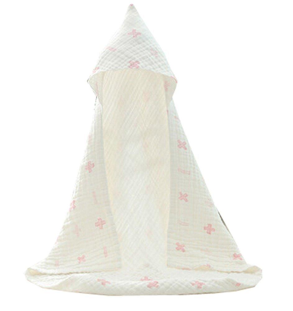 Blancho Bedding Baby Soft Cotton Breathable Bath Towel Kids Bathcloth Cloak Bathrobe 0-5 Years(White-2)
