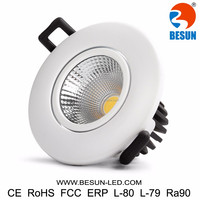 Led ceiling spotlight 7w small led downlight 90ra 75-85mm cut hole warranty for 5years