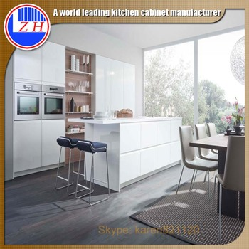 Australia Standard Modular Kitchen Design With Long Island Breakfast