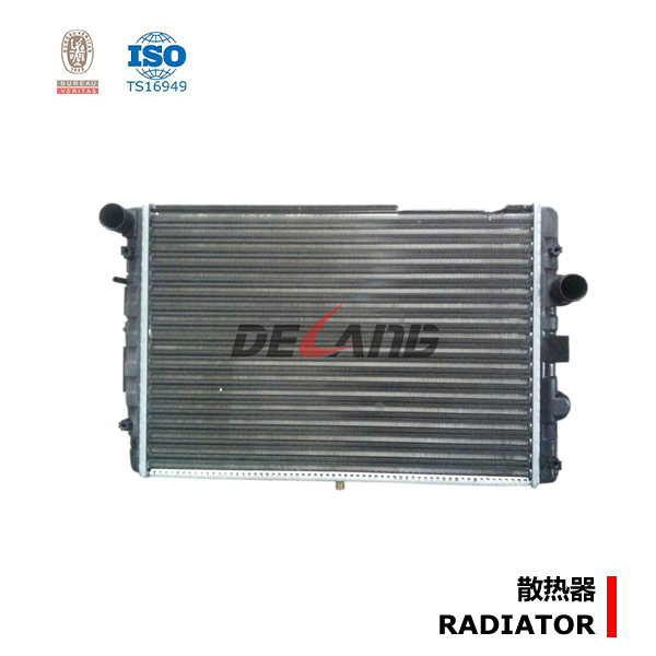 Shanghai aluminum auto engine radiator pa66 gf30 for VOLKSWAGEN 2004-2006 OE No# 377121251F (DL-A075)