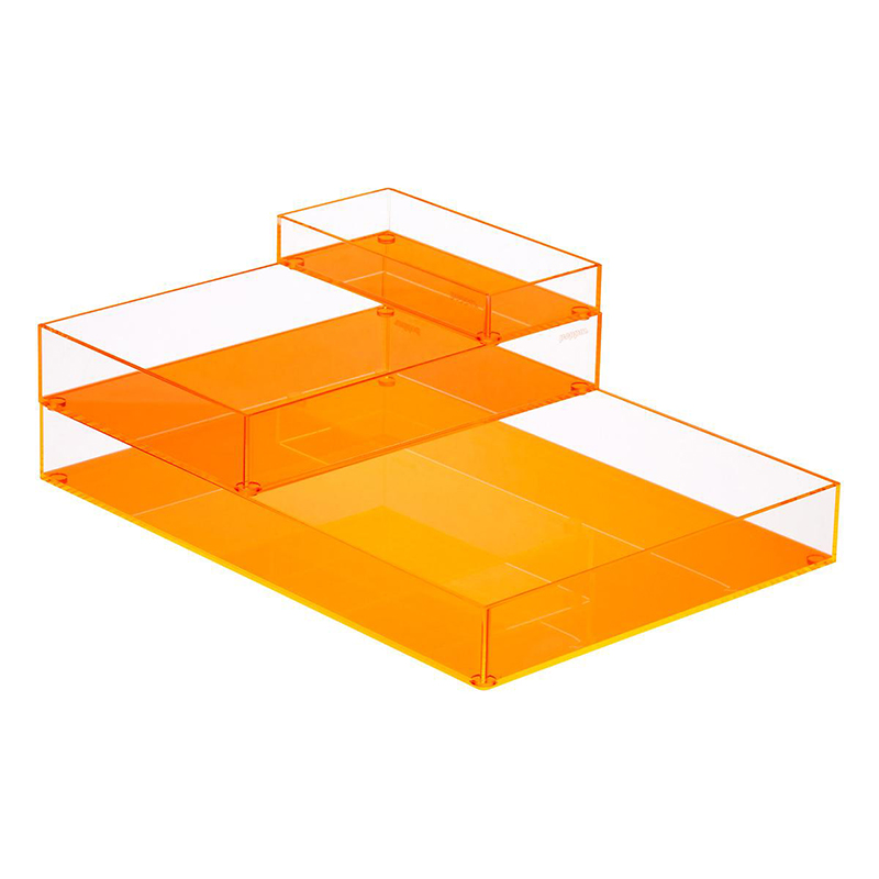 custom wholesale colorful acrylic cosmetics jewelry display tray