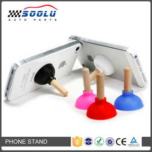 Portable Suction Cup Plunger Sucker Silicone Mobile Phone Stand