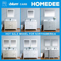 Homedee Contemporary Bathroom Vanities and Sink Consoles,Double Sink Bathroom Vanity Cabinet