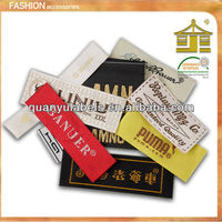Custom fabric woven clothing label wholesale brand name for garment