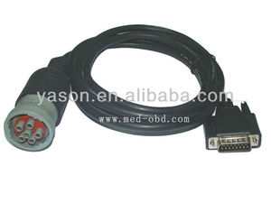 OBD2 Interface truck J1708 6pin to DB15 Male Cable