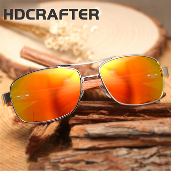 54a5ea9b4d9 HDCRAFTER 2017 fashion outdoor new design sunglasses wooden legs polarized  mirror lens driving men and women