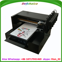 DER-R2000T DTG T shirt printer machine with DX5 head DTG printer Directly print on fabric printer
