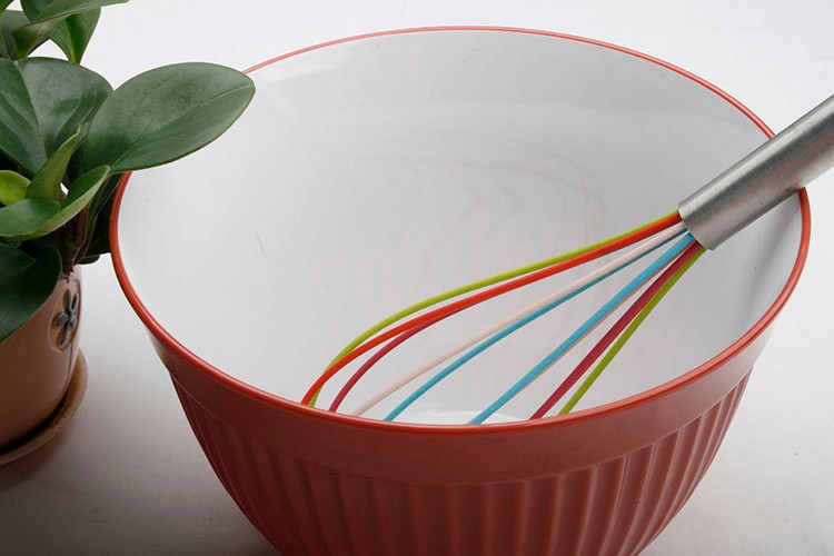 Non-Stick Friendly Silicone Hand Whisk with Stainless Handle