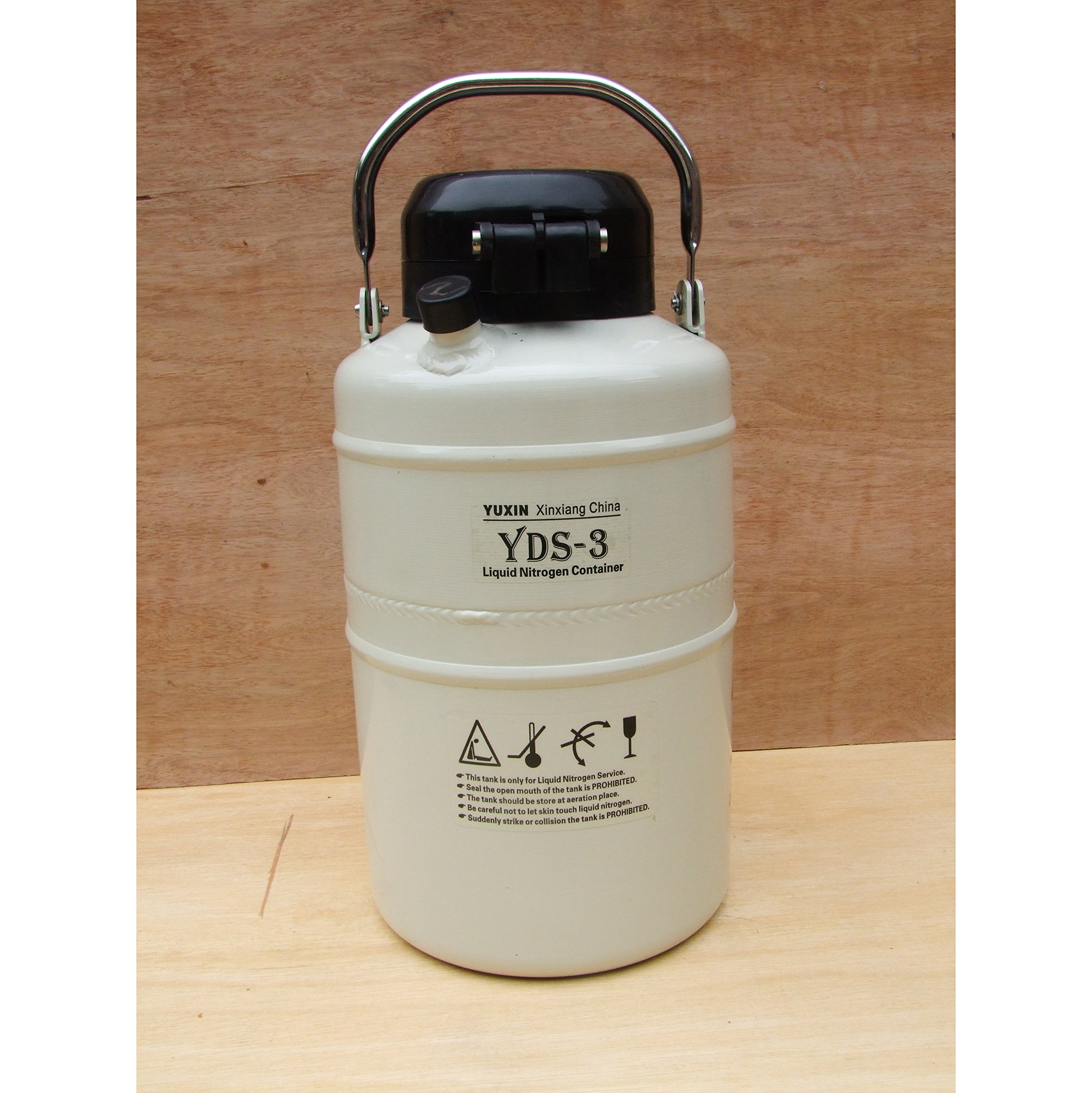 HFS (Tm) 3 L Cryogenic Container Liquid Nitrogen Ln2 Tank with Straps and Carry Bag with 6 Canisters. Dewar Tank