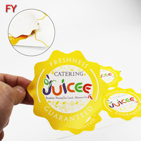 Contact Supplier Leave Messages Factory custom printed food rounded packing bottle coated paper die cut label sticker