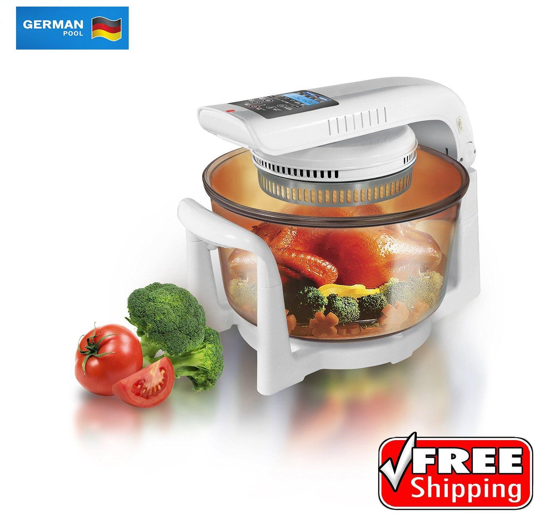 """German Pool 120V 12 Litre Halogen Cooking Pot (CKY-788) Bundled with """"A Taste of Korean Drama Inspired Home Cooking"""" Cookbook"""