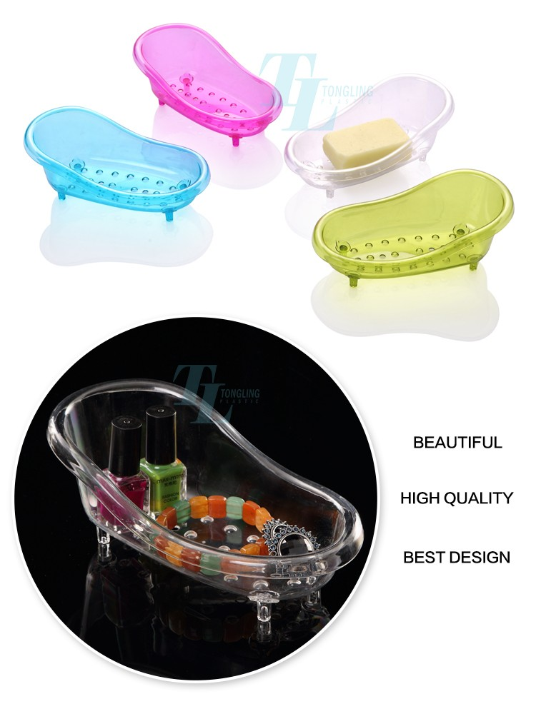 Wholesale Home Hotel Bathroom Plastic Bathtub Shaped Soap