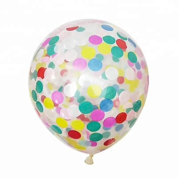 Round Clear Transparent Latex Confetti Balloons For Weddings Favor Party