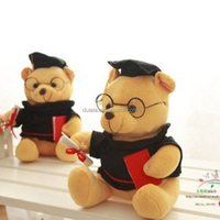 New Design Very Practical Plush Graduation Bears on Sale,Top Quality University College Student Gift,Teddy Bear Graduation Bear