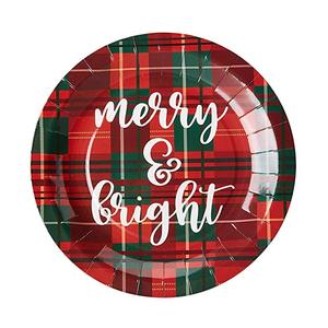 Customized Christmas Brand Party Paper Plate with Charger Plates, Napkins and Cups