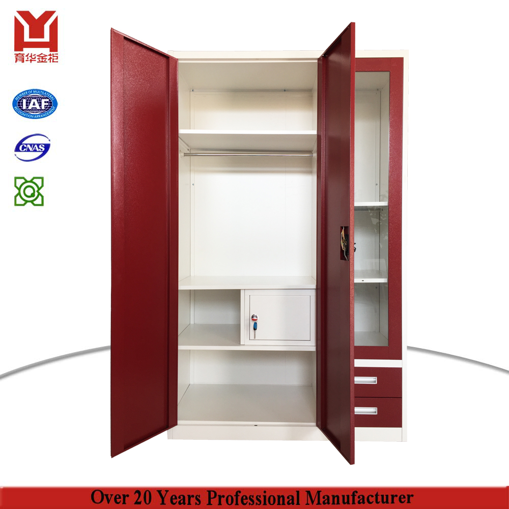 7bec3b8b2 China Online Sell 3 Door Locker With Drawer India Bedroom Metal Clothes  Cabinet Godrej Steel Almirah