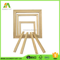 high quality preferential price wooden stretcher bar / oval canvas frame / stretched and primed canvas