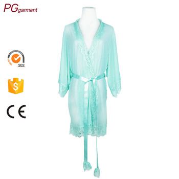 ed22df3277 Factory women transparent wholesale mesh sheer lingerie sexy night dress  for honeymoon bridesmaid lingerie robes. View larger image