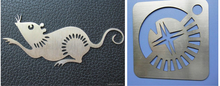 laser cutting stainless steel letters AKJ1325H,used co2 laser cutting machine,small-scale metal laser cutting machine
