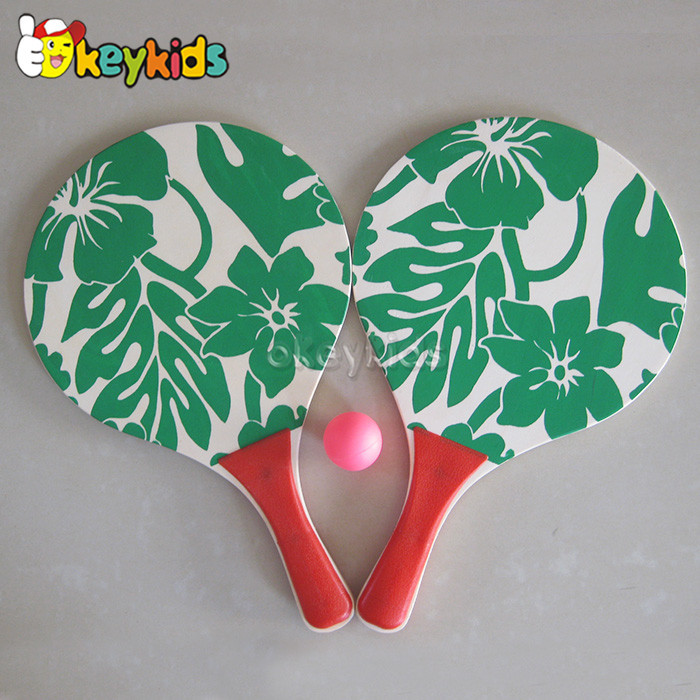 Customize funny adult wooden carbon beach racket for wholesale W01A098