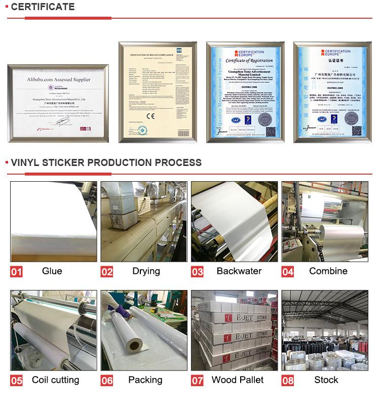 120gsm matte brilhante PVC auto adesivo de vinil adesivo para rolos de impressão