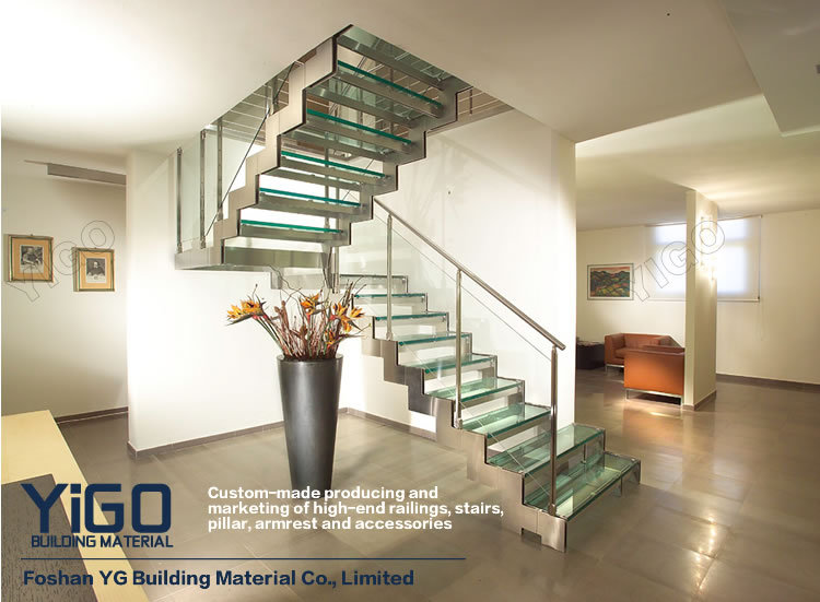 Charming Indoor Steel Wood Double Stringer Stairs/wood Staircase For Sale