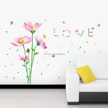 colorcasazypa 060 n rose fleur stickers muraux bricolage pvc decalsbedroom salle de mariage dcoration - Grossiste Deco Mariage