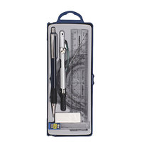 Metal drawing bow in plastic box/school office compass set