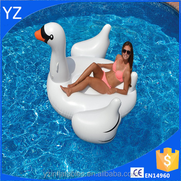 Factory price inflatable pool float Swan
