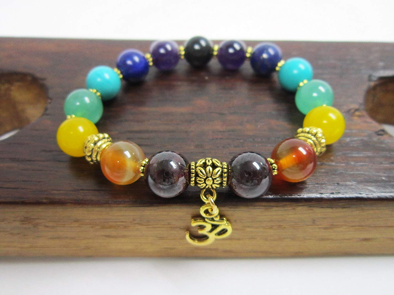 7 Chakra Gemstone Bracelet Balance 7 Chakra Bracelet 7 Chakra Healing Bracelet 7 Chakra Energy Bracelet Gemstone Yoga Meditation Bracelet