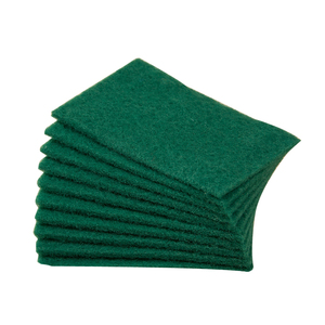 OEM factory price green scouring pad kitchen cleaning nylon sponge scourer