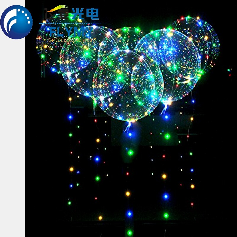 2018 Hot Sale New Products Clear Bobo Ball Colorful air Light String Led Balloon light For Christmas Wedding Party <strong>Decoration</strong>