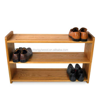 Wood 3 Tier E Saver Shoe Rack Storage Entry Organizer And Bench Closet For Bathroom Or Kitchen Solid Pine