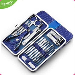18 in 1 Nail Art Nail Clippers Pedicure Tools Stainless Steel Manicure Set